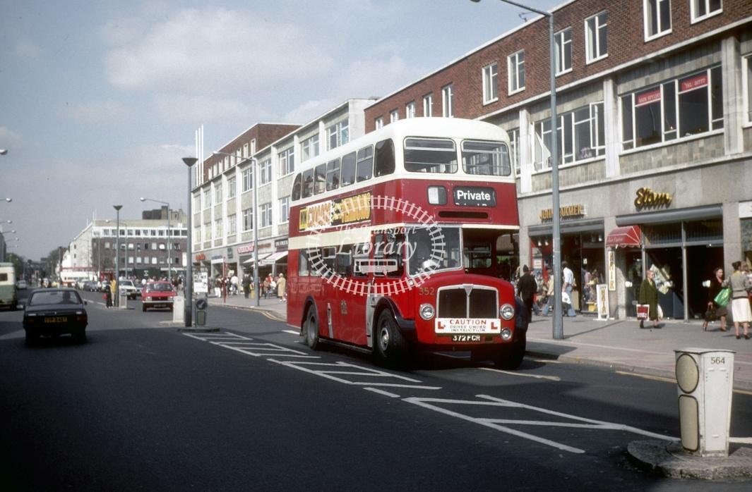 Southampton AEC Regent V 352 372FCR at Southampton City Centre in 1979 - Apr-79 - Harry Hay