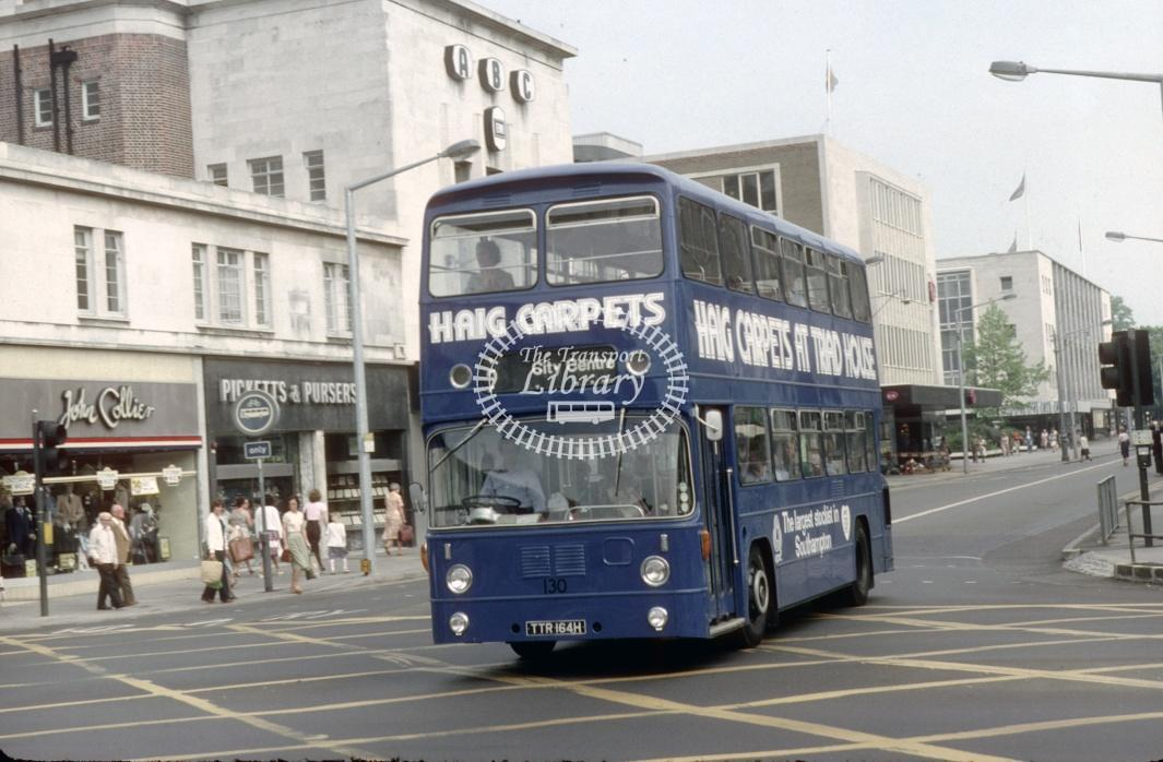 Southampton Leyland PDR1A/1 130 TTR164H at Southampton City Centre in 1980 - 29373 - Harry Hay