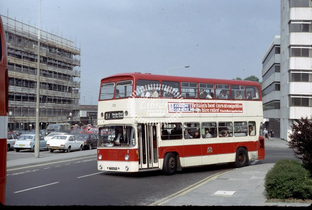Southampton Leyland PDR1A/1 133 TTR167H at Southampton area in 1980 - 29373 - Harry Hay