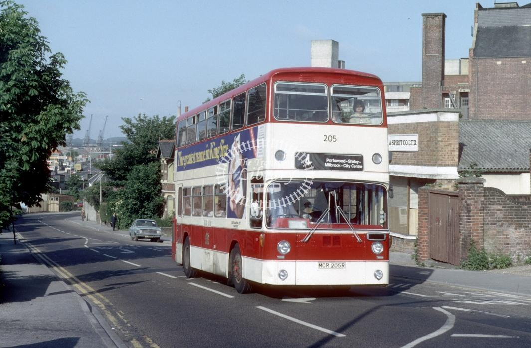 Southampton Leyland AN68 205 MCR205R at Southampton area in 1980 - 29373 - Harry Hay