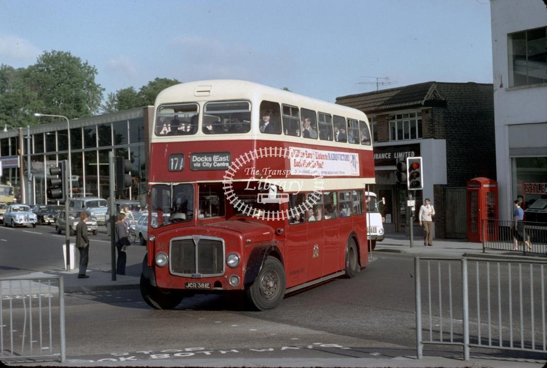 Southampton AEC Regent V 381 JCR381E at Southampton area in 1980 - 29373 - Harry Hay