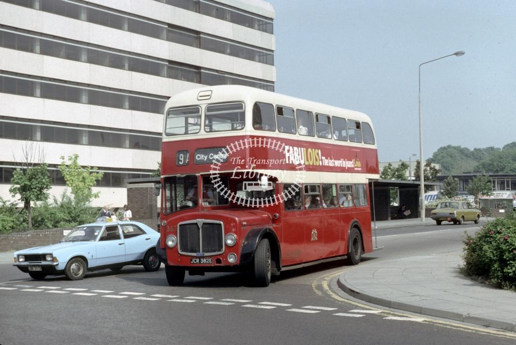 Southampton AEC Regent V 382 JCR382E at Southampton area in 1980 - 29373 - Harry Hay