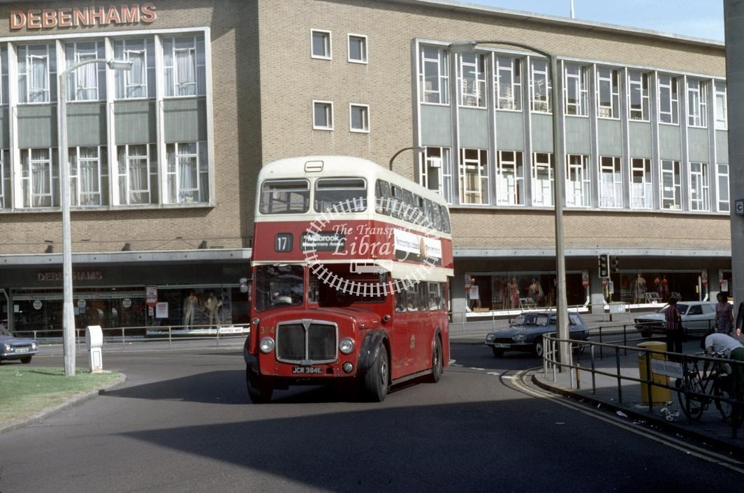 Southampton AEC Regent V 384 JCR384E at Southampton Central Rly Stn in 1980 - 29373 - Harry Hay