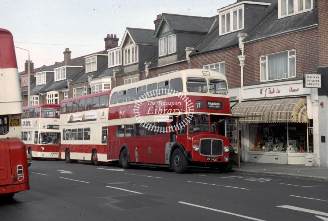 Southampton AEC Regent V 392 JCR392E at Southampton area in 1980 - 29373 - Harry Hay