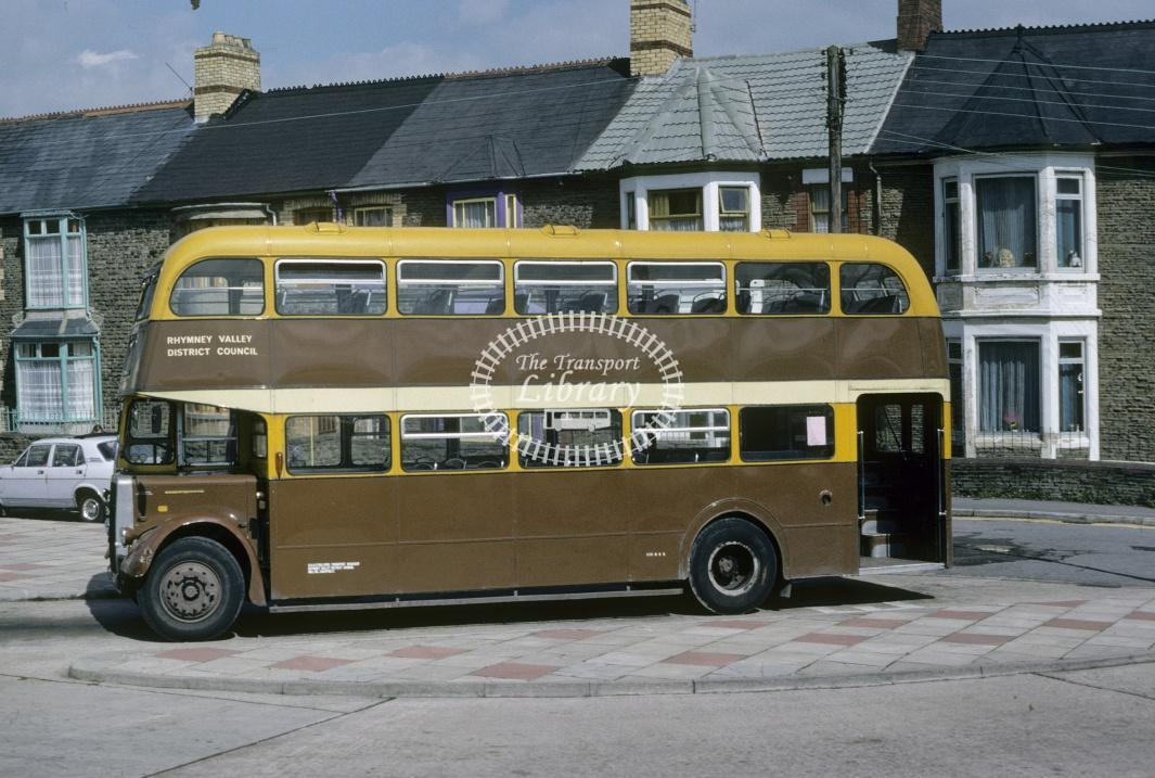Rhymney Valley Leyland PD3/4 32 GNY432C at Caerphilly Bus Stn in 1978 - Jul-78 - Harry Hay