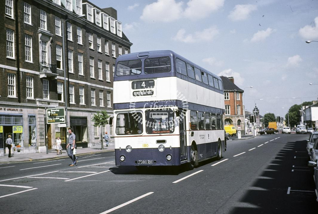 Hull Leyland PDR1/1 180 7380RH at Hull Area in 1978 - Jul-78 - Harry Hay