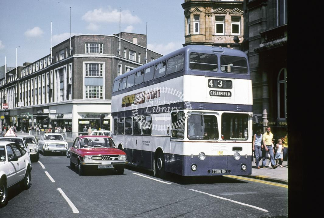 Hull Leyland PDR1/1 186 7386RH at Hull Area in 1978 - Jul-78 - Harry Hay