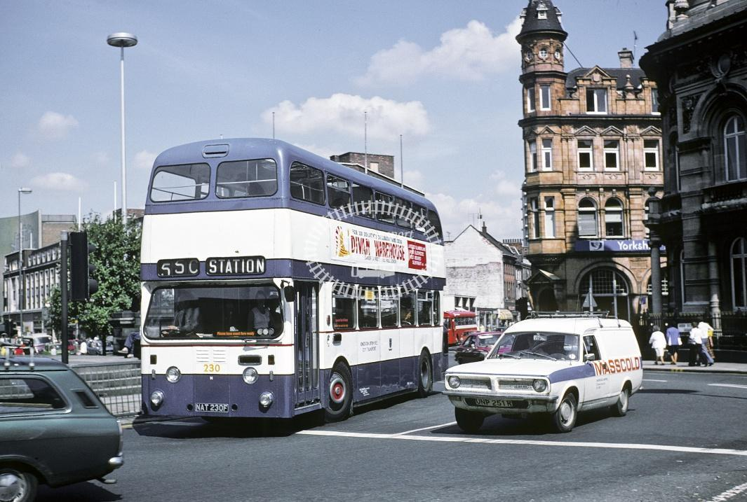 Hull Leyland PDR1/1 230 NAT230F at Hull Area in 1978 - Jul-78 - Harry Hay