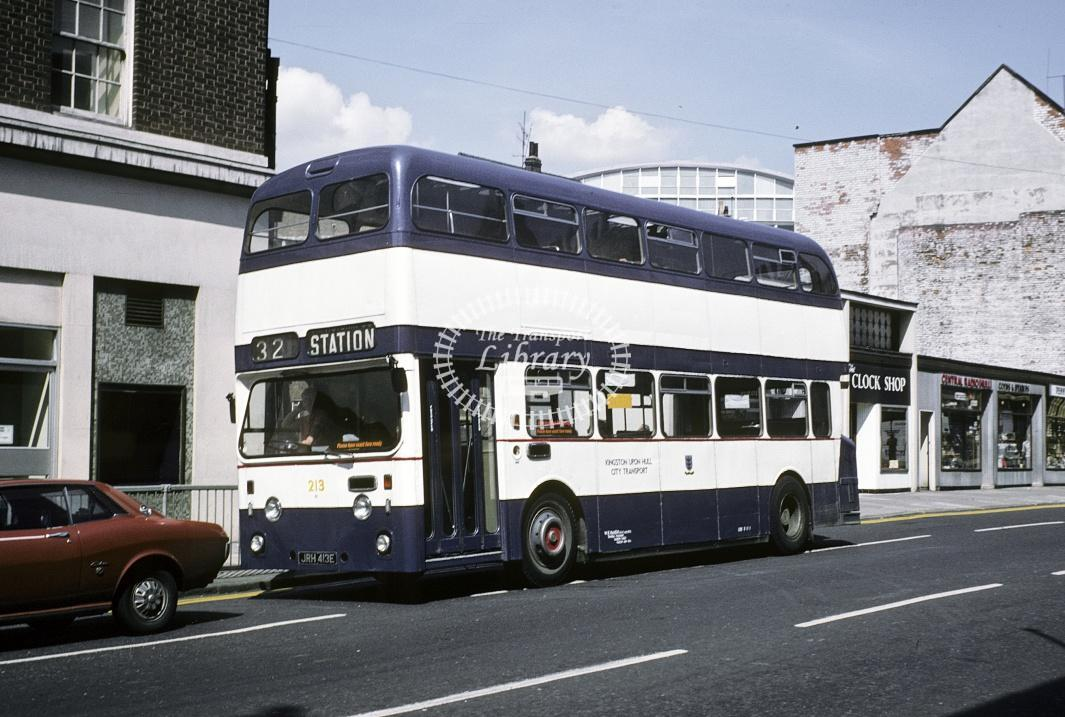 Hull Leyland PDR1/1 213 JRH410E at Hull Area in 1978 - Jul-78 - Harry Hay