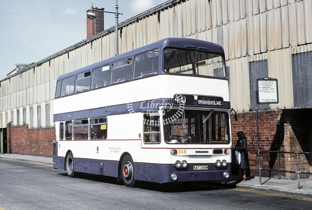 Hull Leyland AN68 348 NAT348M at Hull Bus Stn in 1978 - Jul-78 - Harry Hay