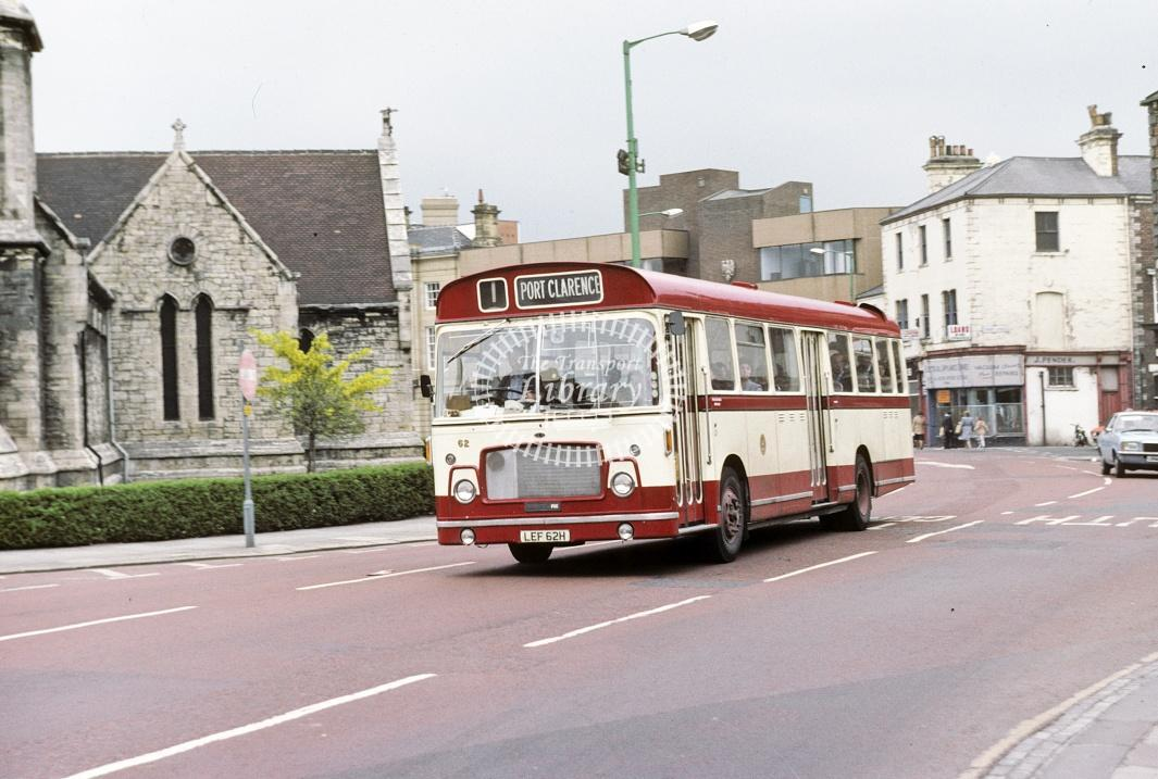 Hartlepool Bristol RELL 62 LEF62H at Hartlepool area in 1980 - May-80 - Harry Hay