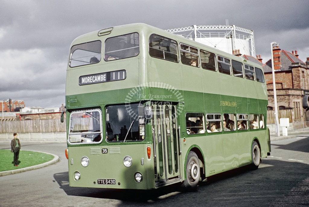 Fishwick Leyland PDR1/1 35 TTE643D at Leyland  in 1970 - May-77 - Harry Hay