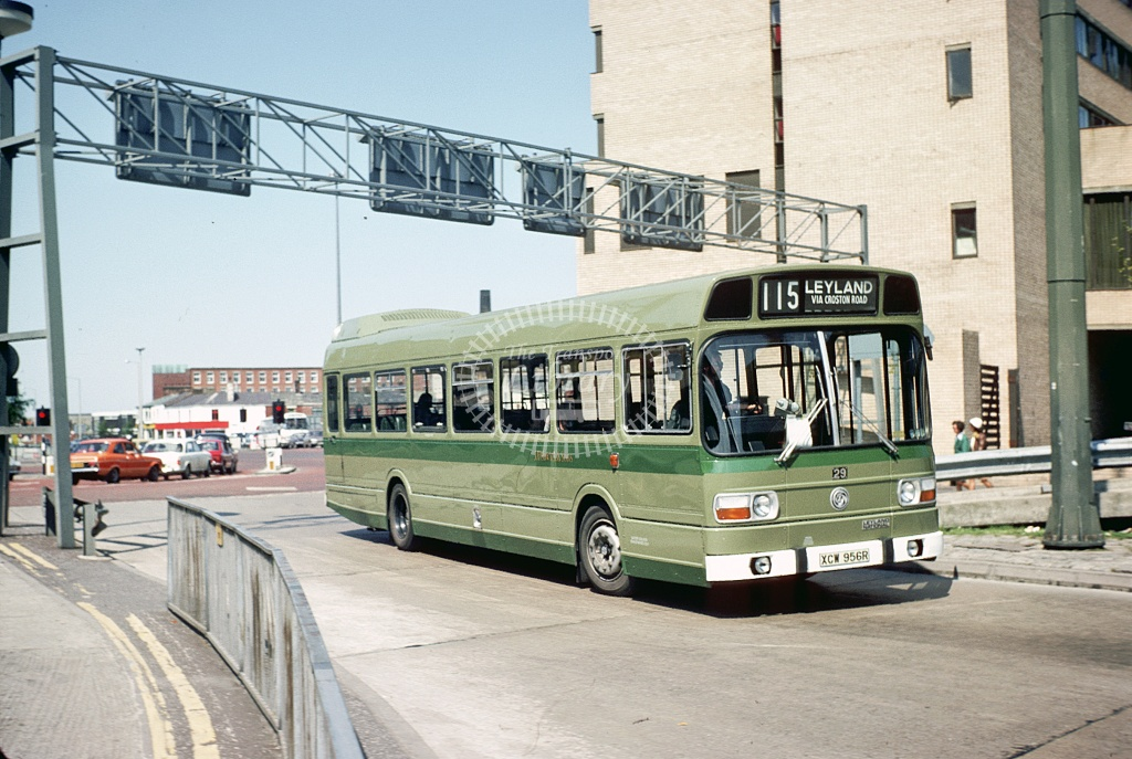Fishwick Leyland National 29 XCW956R at Preston  in 1977 - May-77 - Harry Hay