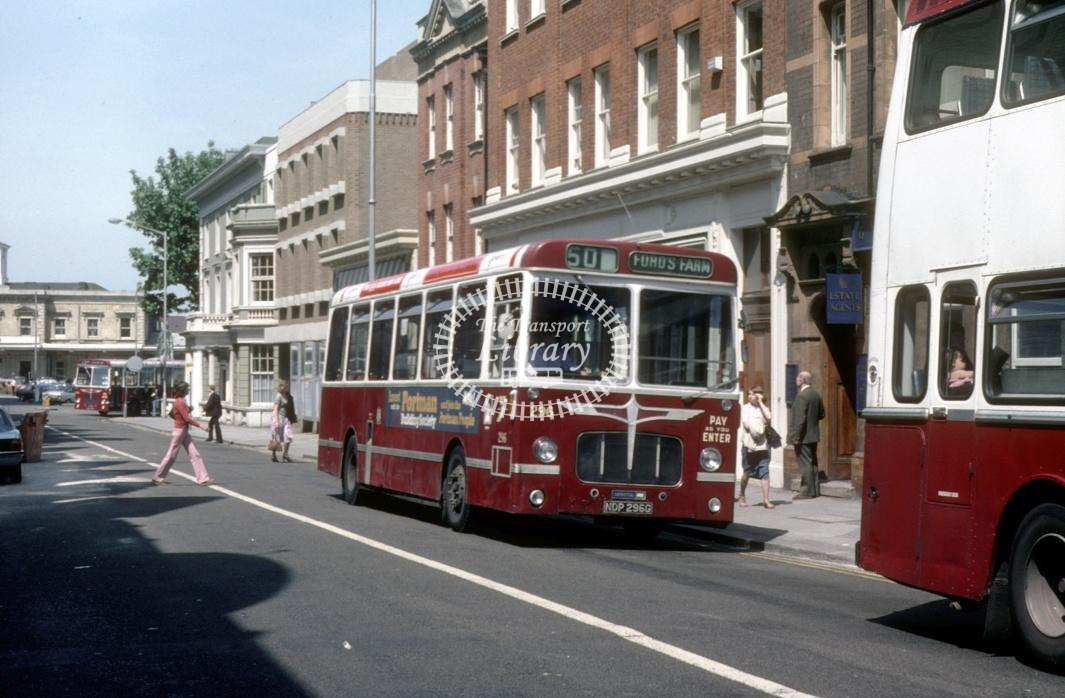 Reading Bristol RELL 296 NDP296G at Reading Town centre in 1980 - 29373 - Harry Hay