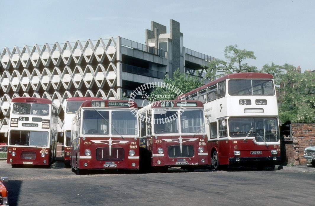 Reading Bristol RELL 43 NDP43R at Reading Garage in 1980 - 29373 - Harry Hay