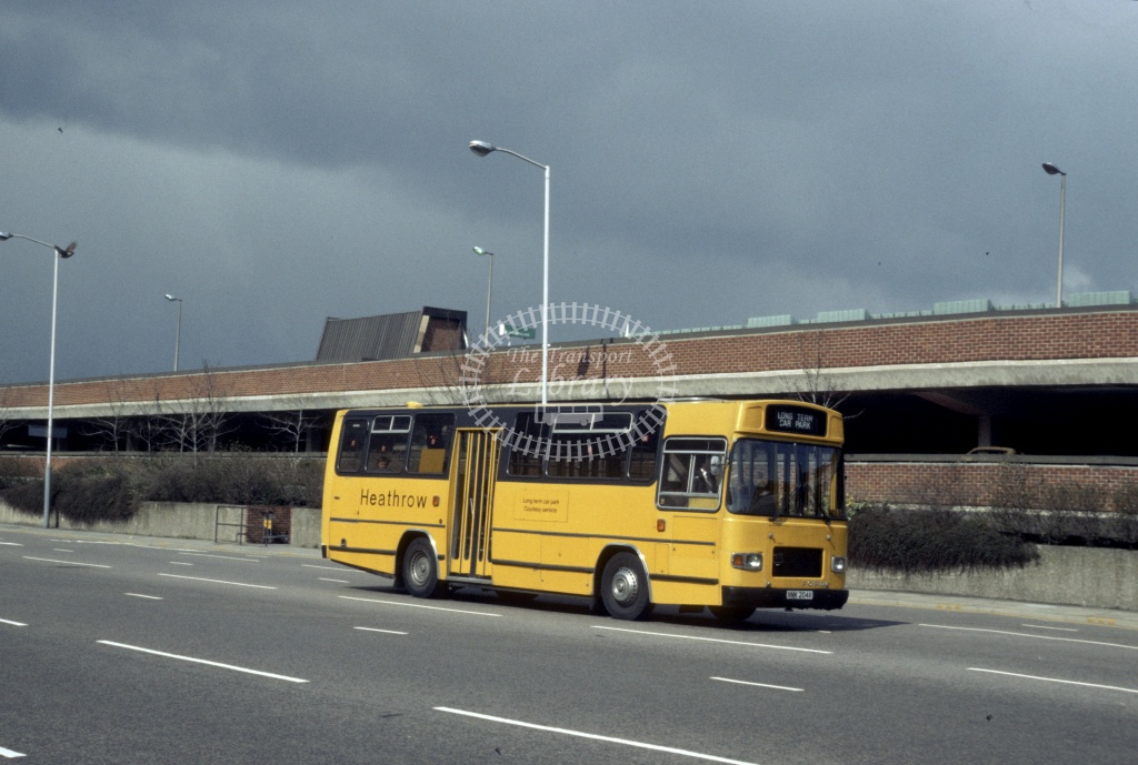 Ralph's Coaches Ford R1114 YNK204X at London Heathrow in 1986 - Sep 1969 - Harry Hay