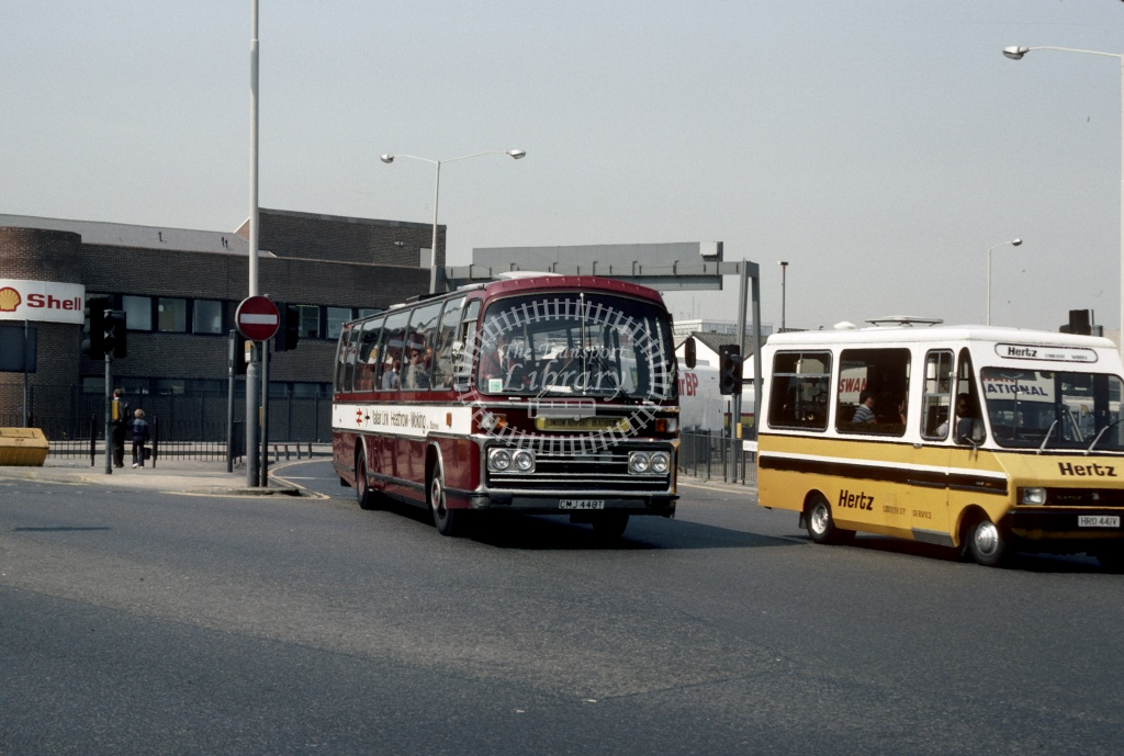 Rickards Leyland PSU3D CMJ448T at London Heathrow in 1982 - May 1982 - Harry Hay