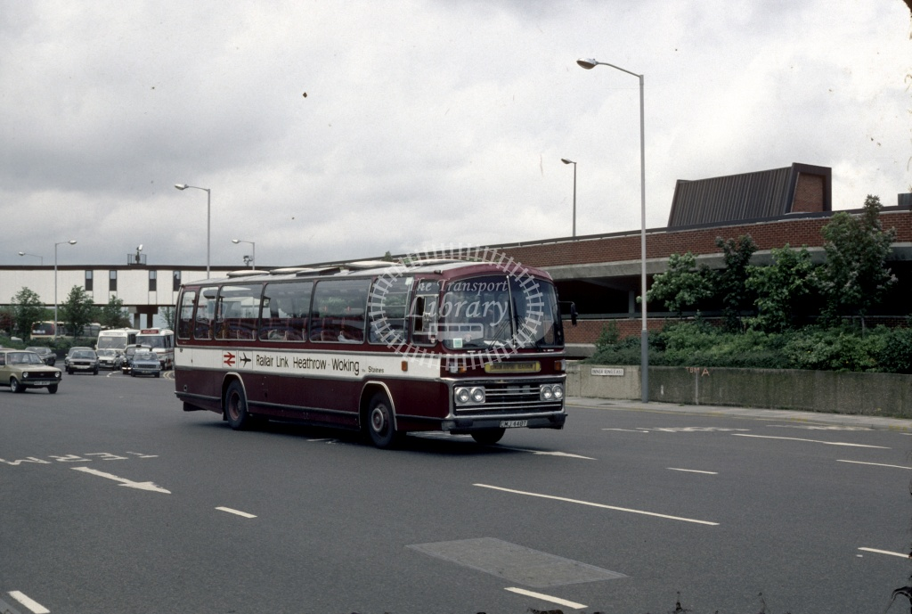 Rickards Leyland PSU3D CMJ448T at London Heathrow in 1982 - Aug 83 - Harry Hay