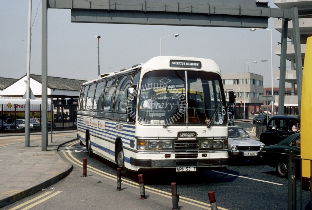 Sheraton Hotels Ford R1114 APH531T at London Heathrow in 1982 - Apr-86 - Harry Hay