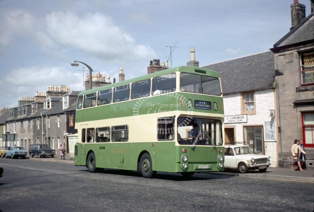 AA (Young) Leyland AN68A TSD517S at Irvine Turf Corner in 1978 - Jul-78 - Harry Hay