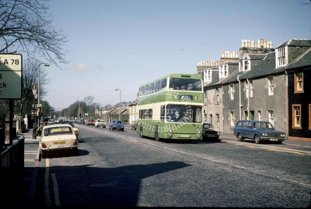 AA (Young) Leyland PDR1/1 MSD141P at Irvine Turf Corner in 1979 - Apr-79 - Harry Hay