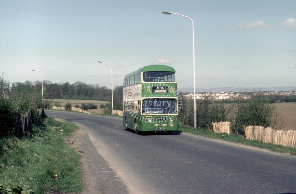 AA (Dodds) Daimler CRG6 CXS557D at Nth Bourtreehill in 1980 - May-80 - Harry Hay