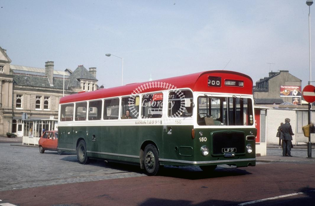 Blackburn Bristol RESL 150 LJF5F at Darwen Bus Stn in 1979 - Apr-79 - Harry Hay