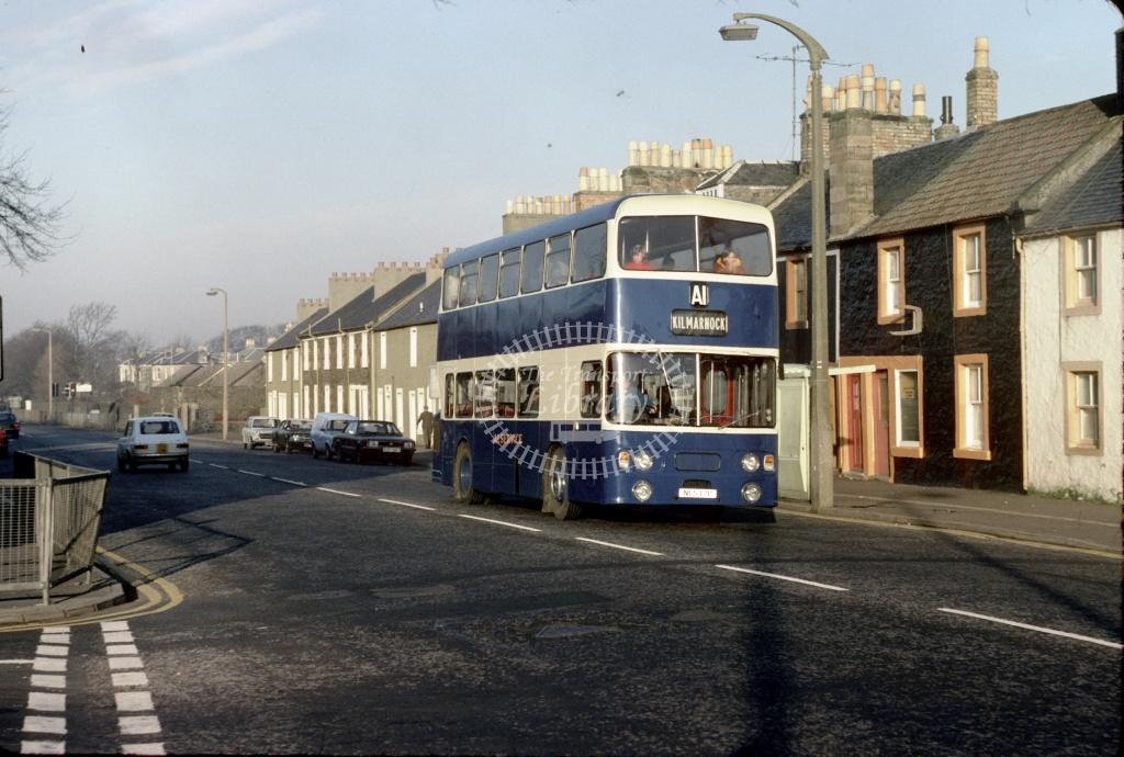 A1 (Murray) Leyland FE30 NCS11P at Irvine Turf Hotel in 1979 - Nov 1979 - Harry Hay