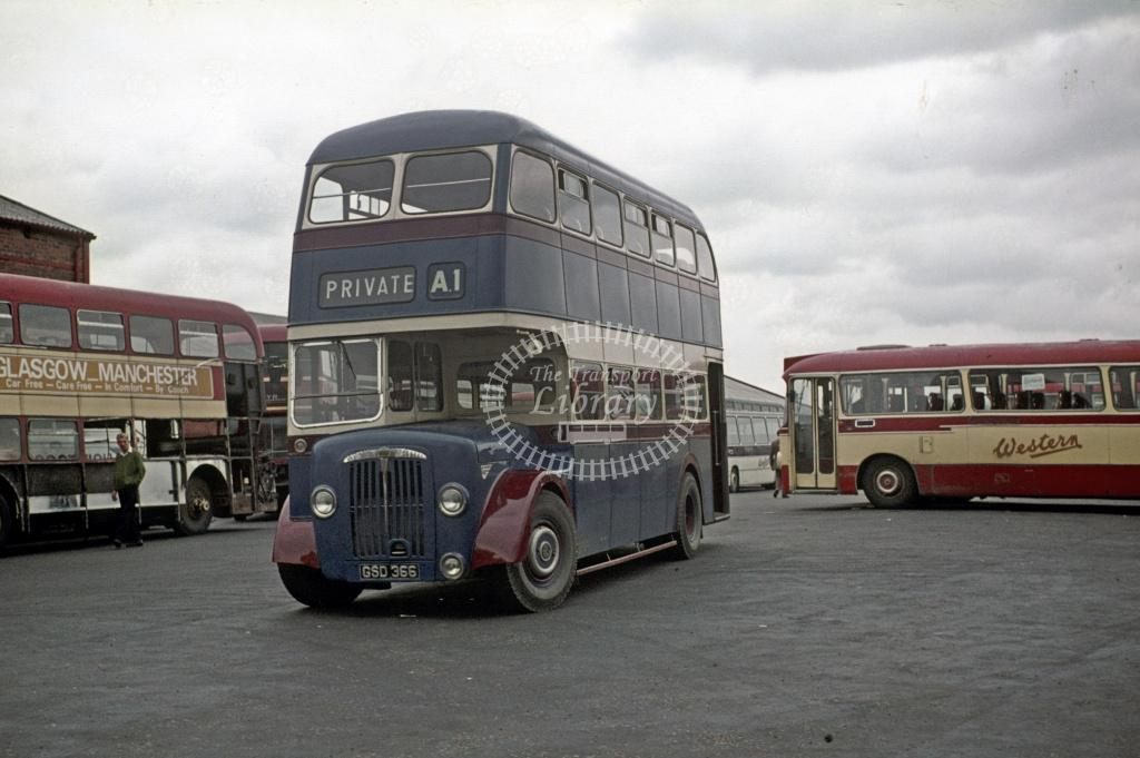 A1 (T Hunter) Daimler CVG6 GSD366 at On OS Tour in 1977 - Apr-77 - Harry Hay