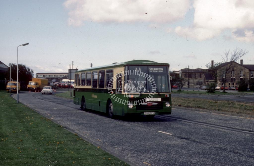 AA (Dodds) Daimler SRG6 DSR132V at Irvine area in 1984 - May-84 - Harry Hay