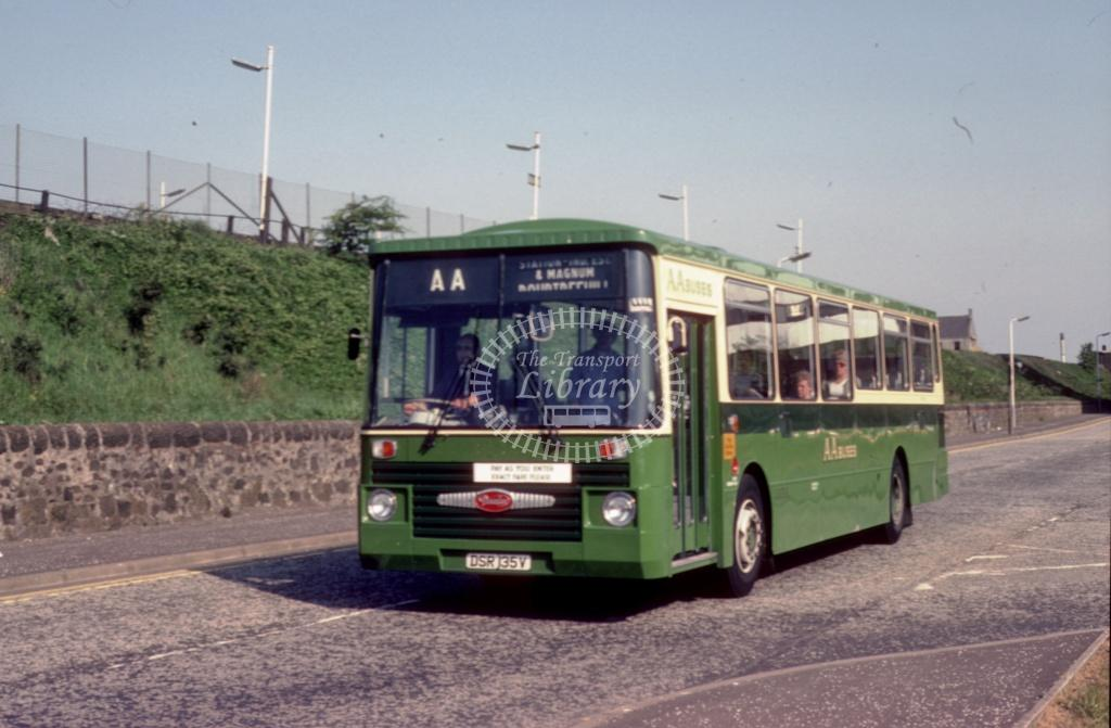 AA (Dodds) Daimler SRG6 DSR135V at Irvine area in 1984 - May-84 - Harry Hay