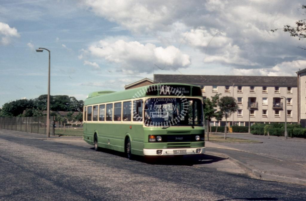 AA (Young) Leyland National NSL550X at Irvine area in 1984 - Jul-84 - Harry Hay