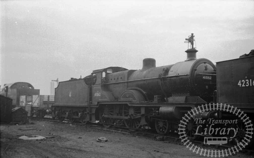 BR British Railways Steam Locomotive Class 4P-A 41062  at Derby Shed in 1958 - 09/11/1958 - J E Bell