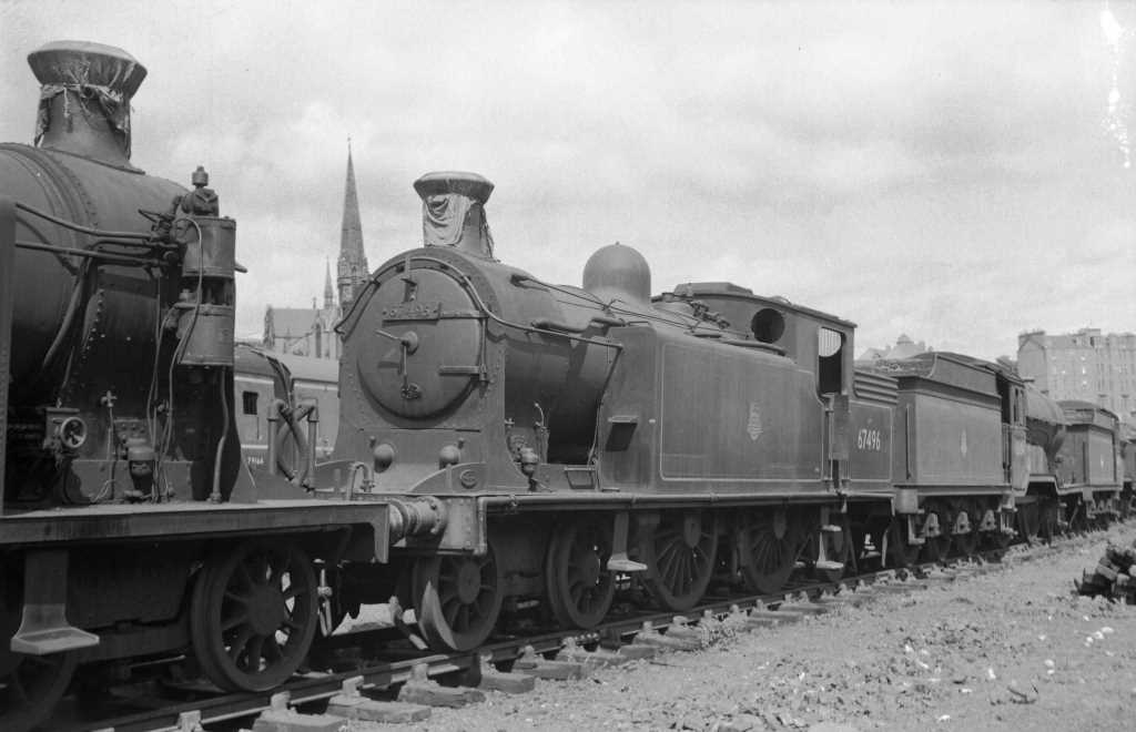 BR British Railways Steam Locomotive Class C16 67496  at Dundee in 1959 - 30/07/1959 - J E Bell