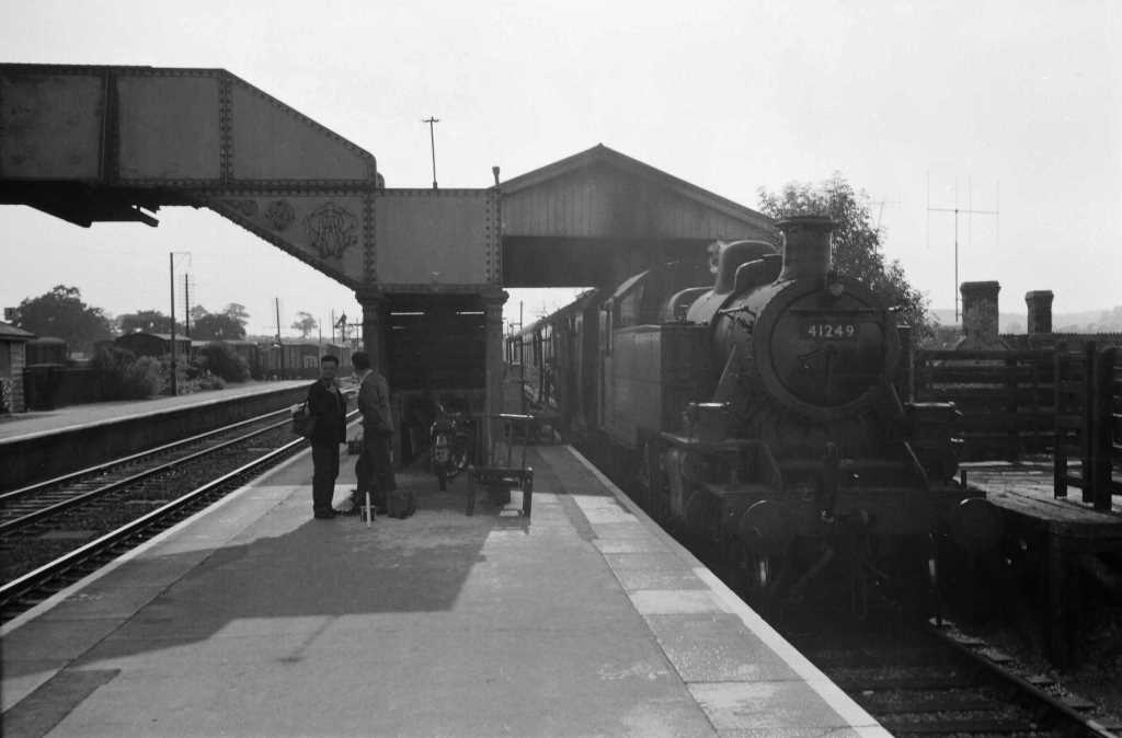 BR British Railways Steam Locomotive Class 2MT-A 41249  at Witham in 1959 - 10/09/1959 - J E Bell
