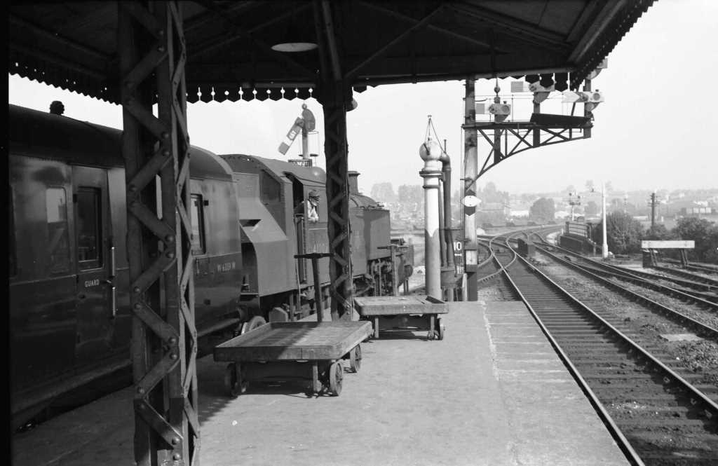 BR British Railways Steam Locomotive Class 2MT-A 41202  at Frome in 1959 - 10/09/1959 - J E Bell