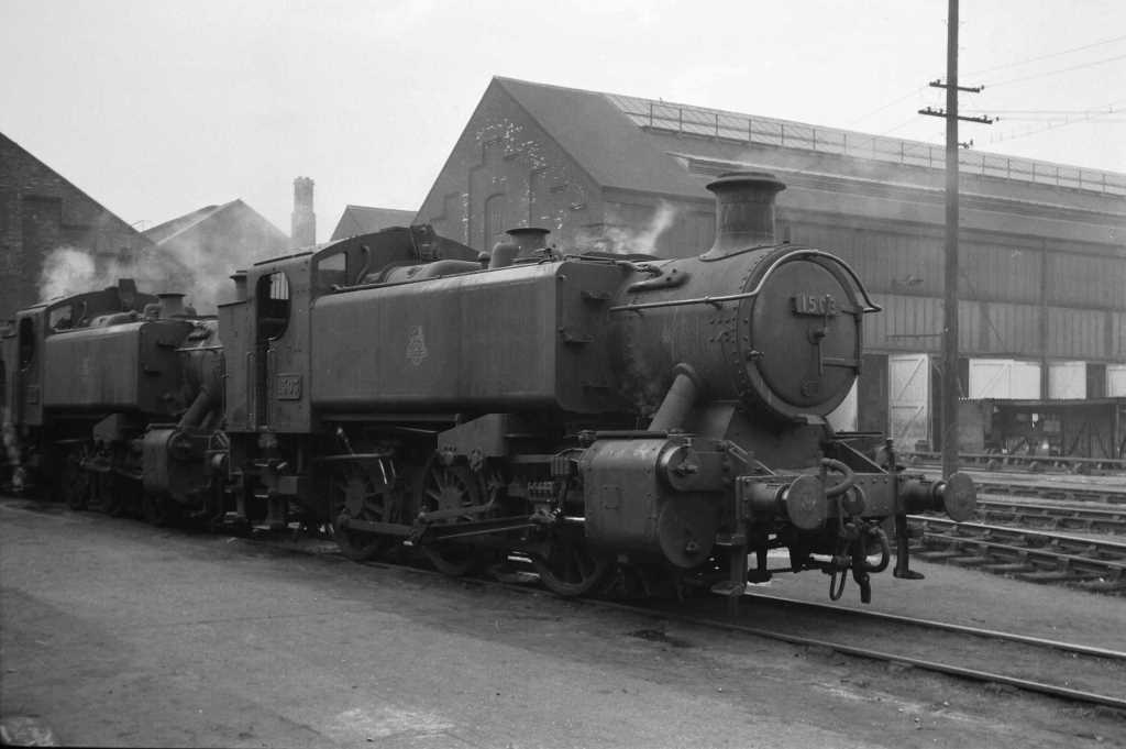 BR British Railways Steam Locomotive Class 1500 1503  at Old Oak Common in 1959 - 31/05/1959 - J E Bell