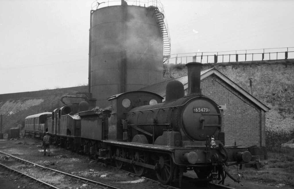 BR British Railways Steam Locomotive Class J15 65479  at Hitchin Shed in 1959 - 03/05/1959 - J E Bell