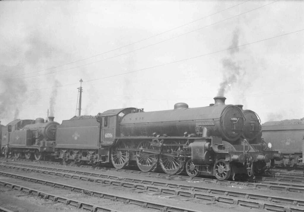 BR British Railways Steam Locomotive Class B1 61006  at Stratford Shed in 1959 - 31/05/1959 - J E Bell