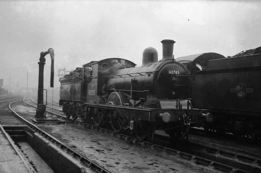 BR British Railways Steam Locomotive Class E4 62785  at Cambridge in 1959 - 03/05/1959 - J E Bell