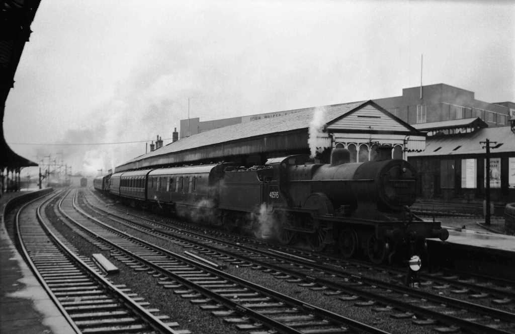 BR British Railways Steam Locomotive Class 2P-B 40595  at Kilmarnock in 1959 - 28/07/1959 - J E Bell