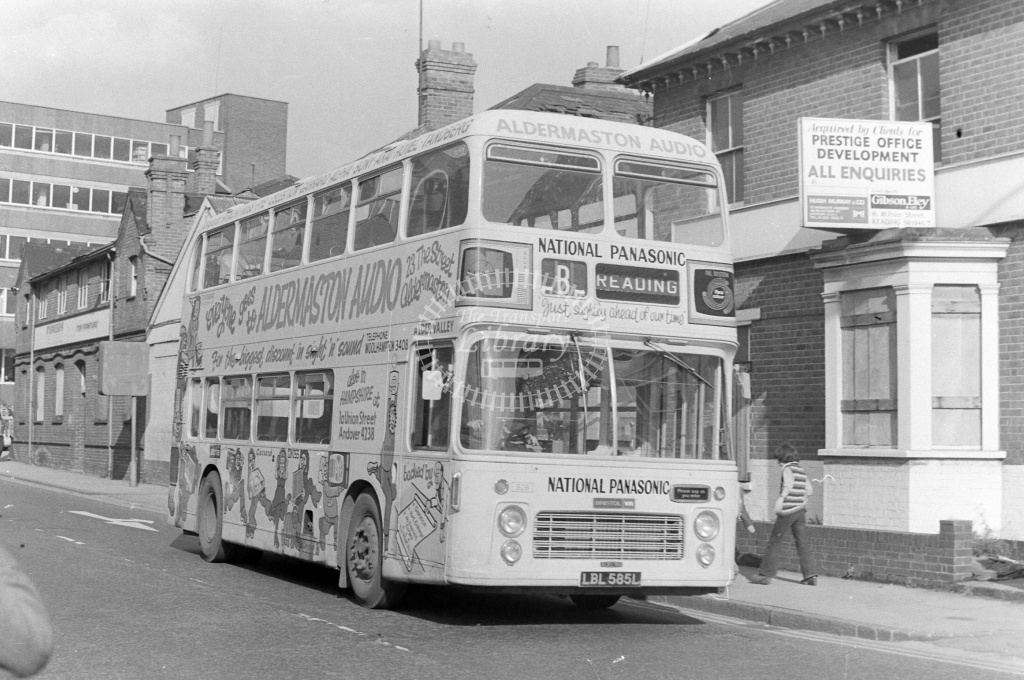 Alder Valley  Bristol VR 926 LBL585L at Reading in 1970s on route B - JGS Smith