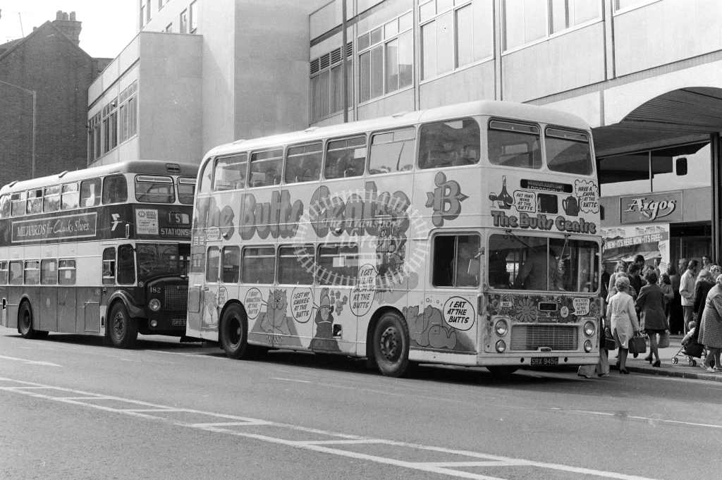 Alder Valley Bristol VRT 902 SRX945G at Reading in 1970s on route Unknown - JGS Smith