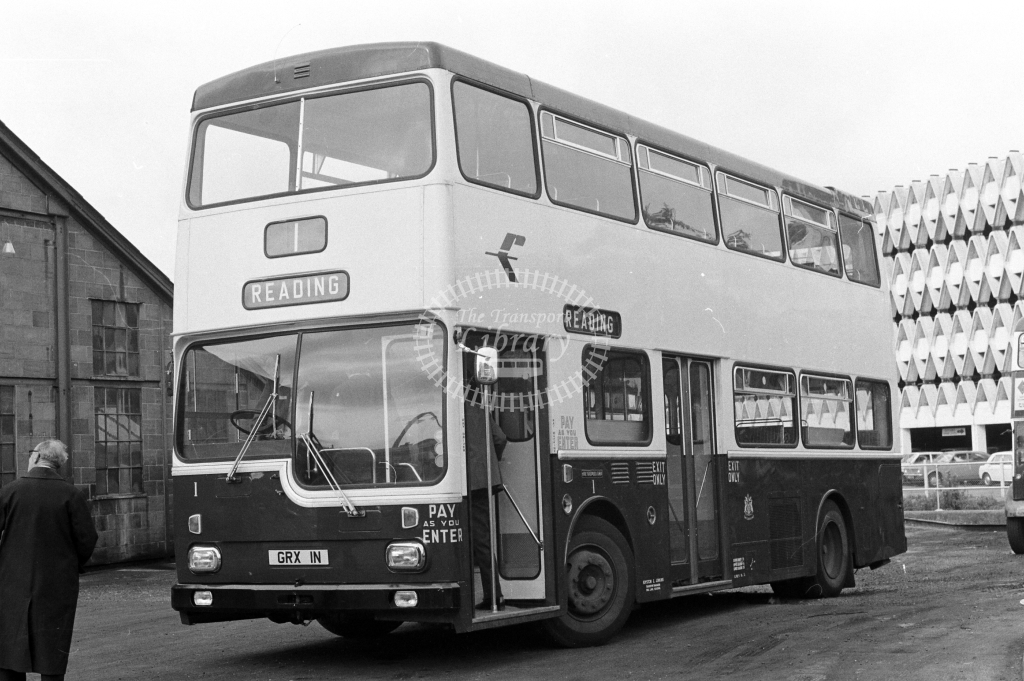 Reading Transport Scania BR 1 GRX1N at Reading in 1970s on route Unknown - JGS Smith