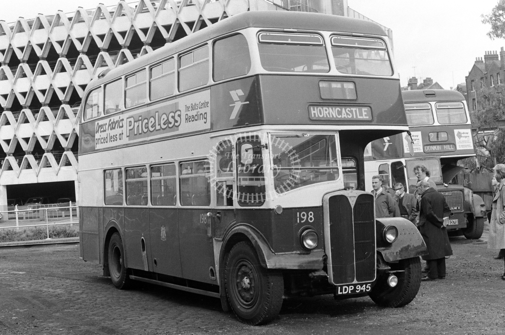 Reading Transport AEC Regent 198 LDP945 at Reading in 1970s on route Unknown - JGS Smith