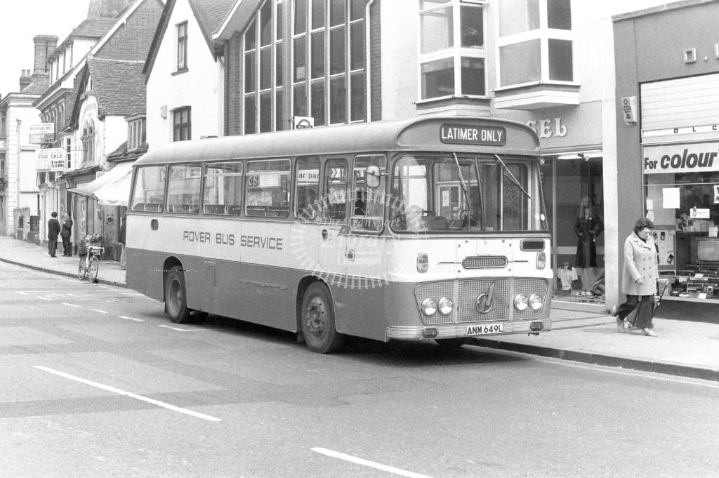 Rover Bus Service Ford R192 ANM649L at Chesham in 1970s - JGS Smith
