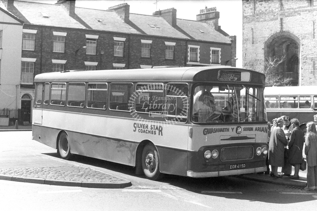 Silver Star Coaches Bedford VAM EOR415D in 1970s - JGS Smith