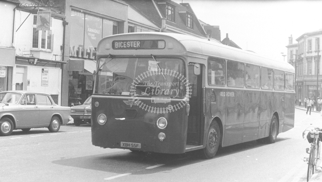 Red Rover AEC Swift XBH55F at Aylesbury in 1970s - JGS Smith