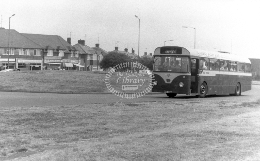 Red Rover AEC Reliance EPH189B at Aylesbury in 1970s - JGS Smith