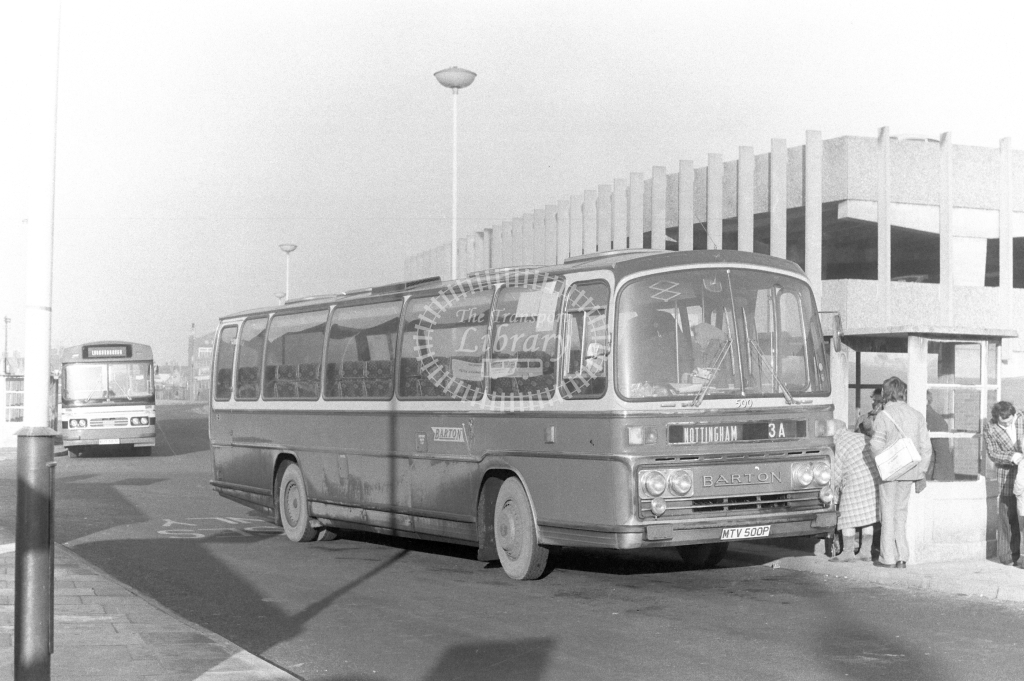 Barton Bedford YMT 500 MTV500P at Nottingham in 1977 on route 3A - JGS Smith